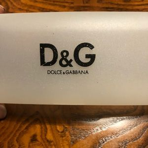 Eye glass acrylic case by D&G.